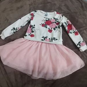 5T Floral Sweater Dress